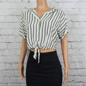 Hollister striped button down top